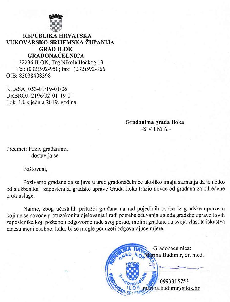 ILOK: Gradonačelnica kojoj je pao proračun (pre)bacila se na borbu protiv korupcije
