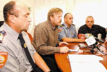Drako Lovrić, Željko Sutlar; Goran Franković i Mladen Magdić na jučerašnjoj konferenciji