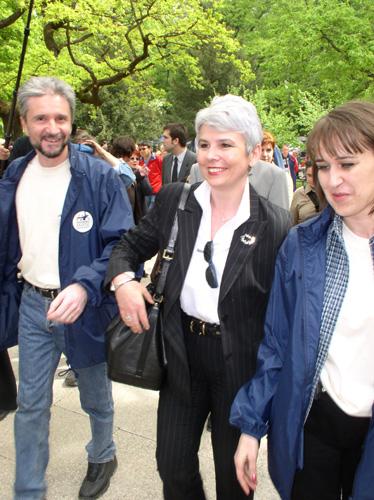 Vedro raspoloženi Krešo i ljepotica pod imenom Marija u društvu s potpredsjednicom Jadrankom Kosor...