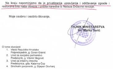 Dopis koji je proslavio tajnika Šarića i očitovanje Šime Krasić na njega...