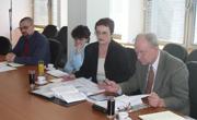 Dražen Opalić, Ružica Surman, Snježana Mesek i Anton Brautović iz Odbora Porezne uprave SDLSN
