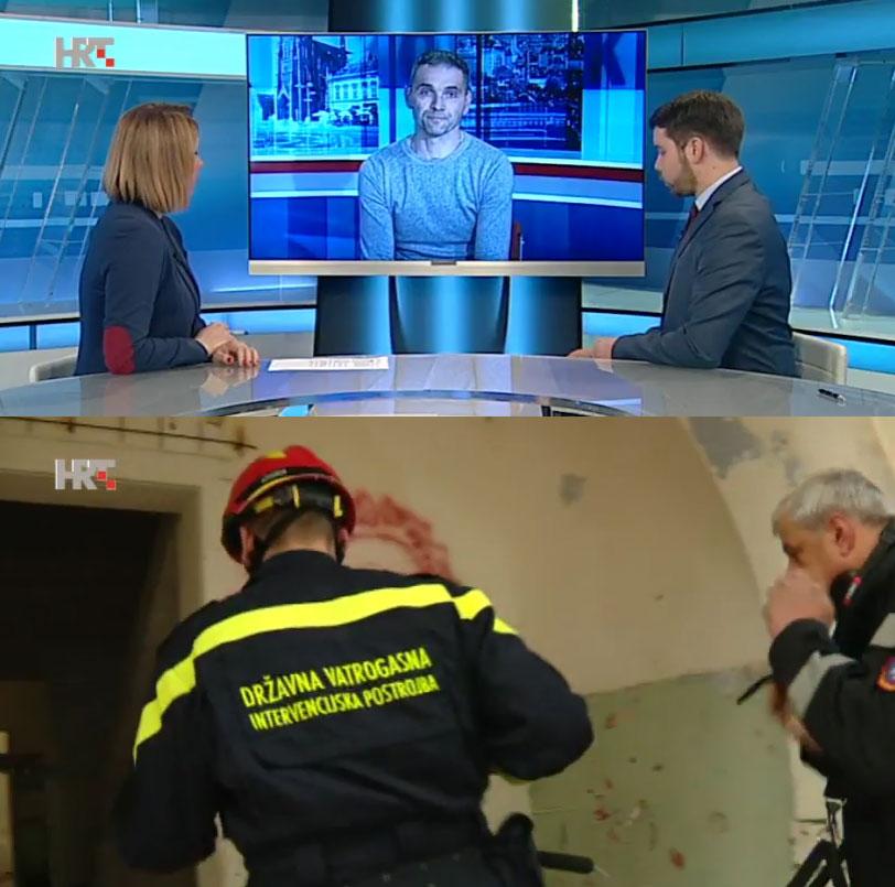 Predsjednik Odbora profesionalnih vatrogasaca SDLSN Drago Pranjić o stanju u vatrogastvu u Studiu 4 HRT-a