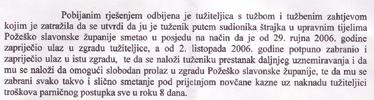 Župan Ronko od suda je zatražio da Sindikatu zabrani sindikalne akcije i u budućnosti