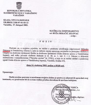 Jesu li razlozi negativne ocjene rada Ruže Jelovac u njezinom sudjelovanju u disciplinskom postupku protiv Miljenka Plukavca?