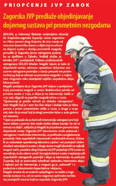 """ZAGORSKI LIST i Radio KAJ o slučaju """"HITNA"""" i inicijativi naših vatrogasaca"""