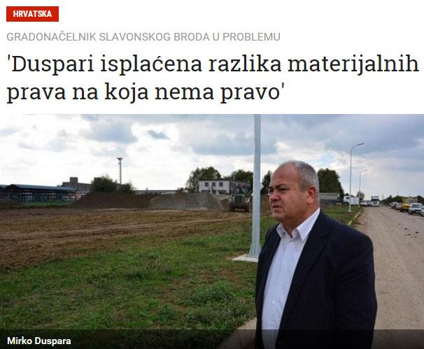 Gradonačelniku Slavonskog Broda isplaćena razlika materijalnih prava na koja nema pravo