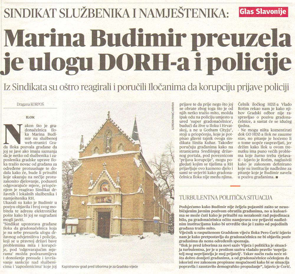 SINDIKAT SLUŽBENIKA I NAMJEŠTENIKA: Gradonačelnica Marina Budimir preuzela je ulogu DORH-a i policije