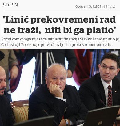 """SLAVKO LINIĆ: """"Prekovremeni rad ne tražim, niti bih vam ga platio!"""""""