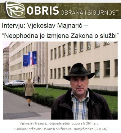 """Intervju: Vjekoslav Majnarić – """"Neophodna je izmjena Zakona o službi"""""""