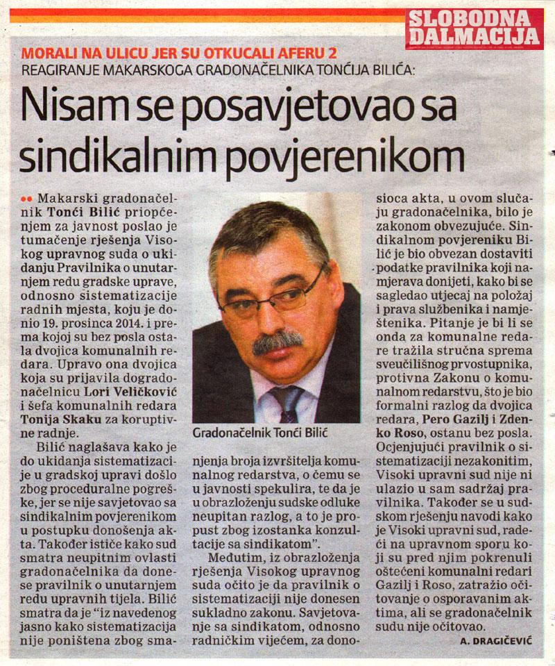 Visoki upravni sud ukinuo Pravilnik o unutarnjem redu Grada Makarske
