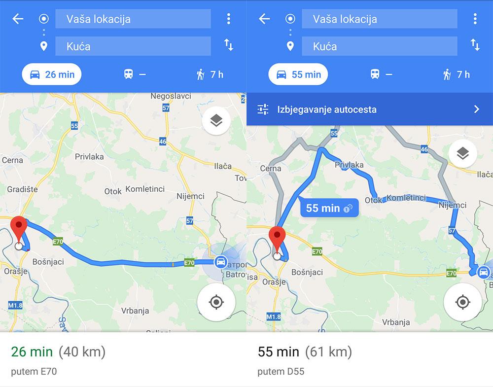 Policijskom službeniku na Bajakovu naknadu za prijevoz obračunali po kilometru autoceste za korištenje koje mu ne plaćaju cestarinu