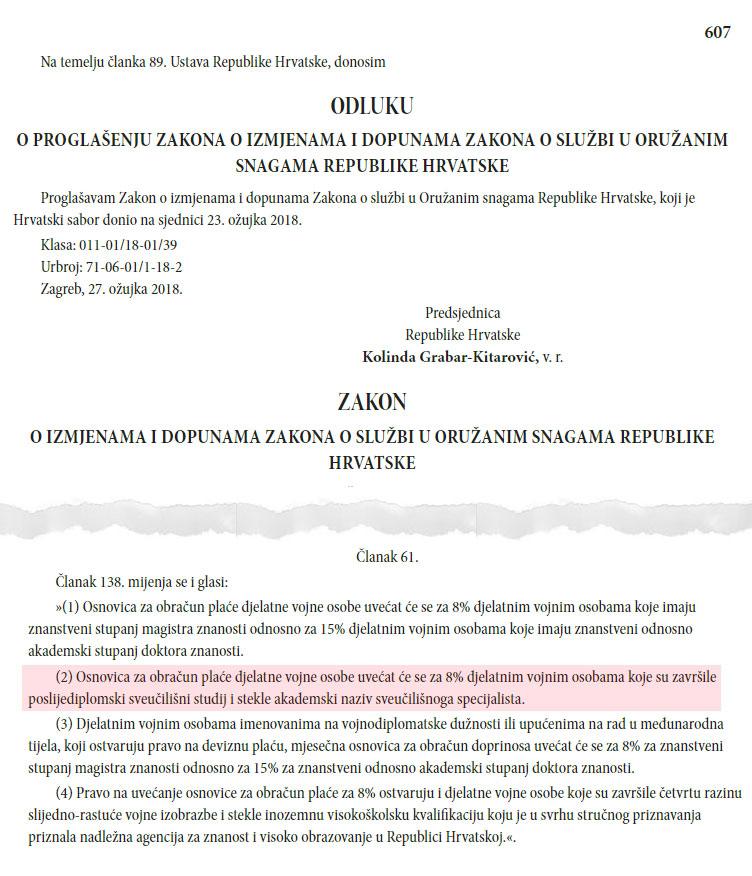 Ministar Krstičević omogućio rast plaće djelatnim vojnim osobama – sveučilišnim specijalistima