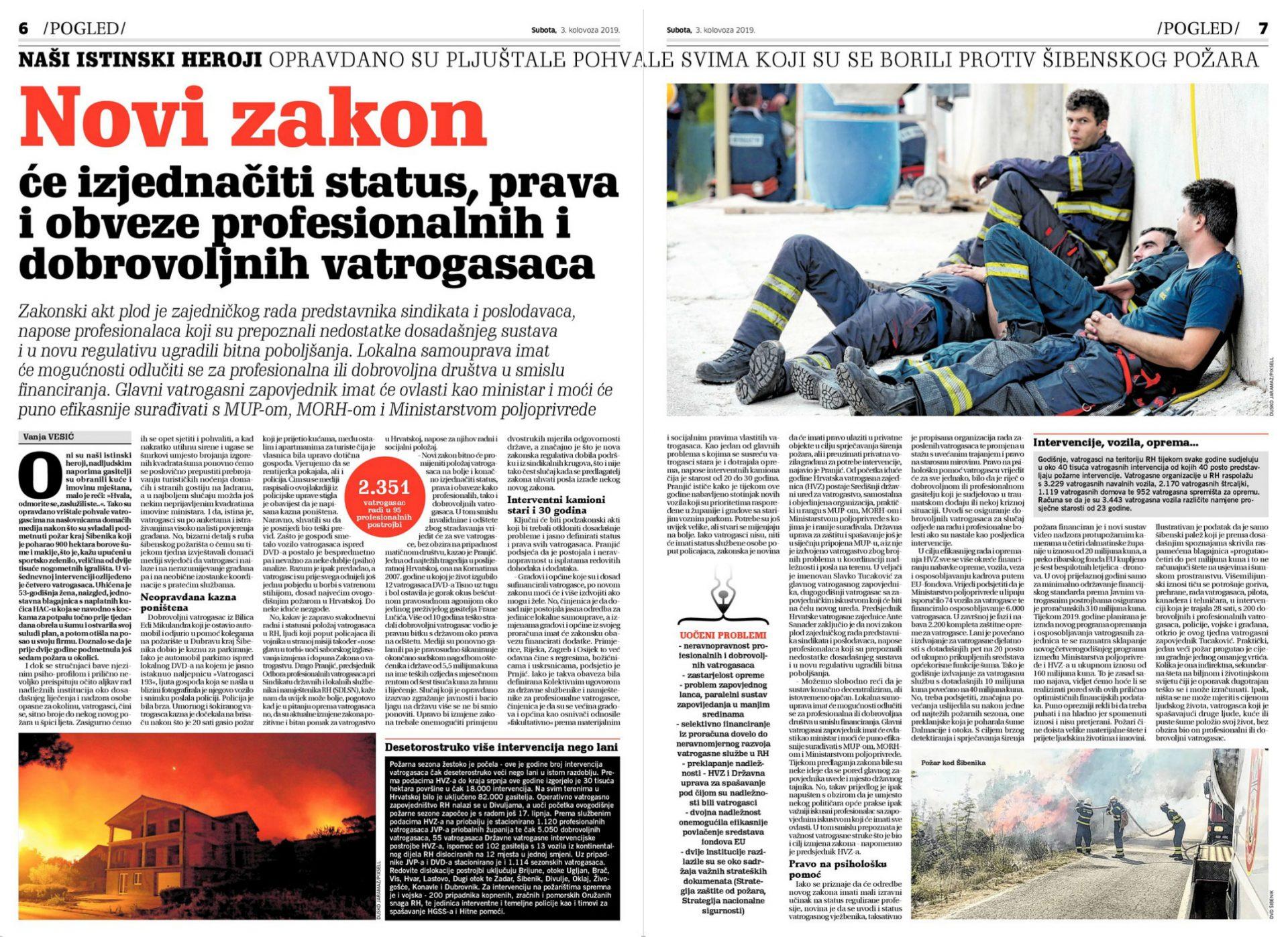 NOVI LIST o budućem ustroju vatrogastva