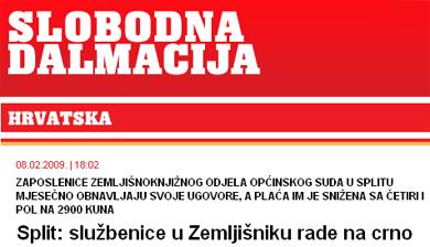 Split: službenice u Zemljišniku rade na crno