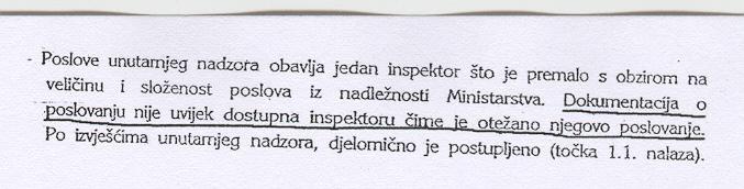 Državna revizija upozorila je da je rad inspektora unutarnjeg nadzora otežan. Treba li to shvatiti kao nalog za otkaz?