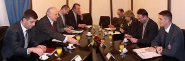 Predstavnici sindikata u MORH i OSRH i ministar Rončević sa suradnicima
