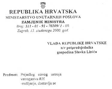 Zamjenik  ministra unutarnjih poslova ocijenio je prijedlog novog ustroja vatrogastva prihvatljivijim od onoga Hrvatske vatrogasne zajednice. Hoće li se on koristiti u izradi novih zakon o vatrogastvu?