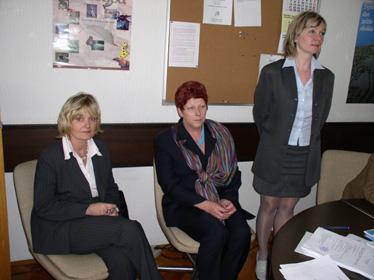 Nova sindikalna povjerenica Branka Radolović, zamjenica sindikalne povjerenice Anica Marohnić i dosadašnja povjerenica Vesna Jandroković
