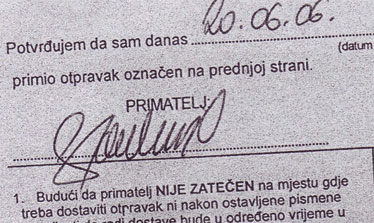 Sutkinja Janković preuzimala je predmete za vještačenje za svog supruga i umjesto njega potpisivala dostavnice