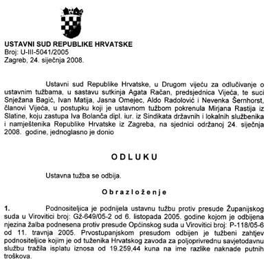 I Ustavni je sud svojim odlukama pokazao kako hrvatsko pravosuđe o određenim pitanjima odlučuje po samo njemu jasnim sudačkim mjerilima