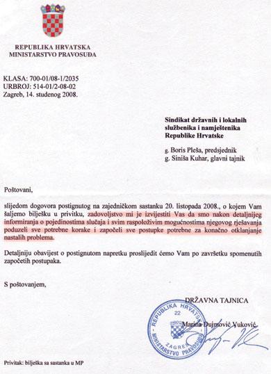 """Iako iz Ministarstva pravosuđa SDLSN uvjeravaju kako su """"poduzeli sve potrebne korake i započeli sve postupke potrebne za konačno otklanjanje nastalih problema"""", službenik Goran Lazarević ovih bi dana trebao platiti 2.780 kuna"""
